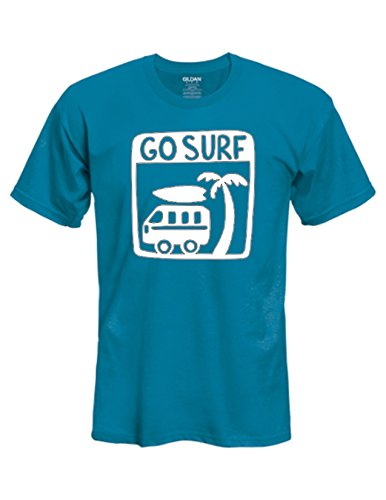 (Mens/Womens Go Surf surfing outdoors adventure T-Shirt - Pick T-Shirt Color, Size and Design Color)