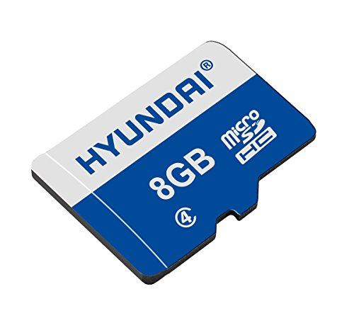 Hyundai 8GB Flash Class 4 Micro SD memory with Adapter - 20MB/S Read Speed and 6MB/S Write Speed Components (6mb Flash Memory Card)