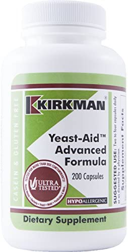 Kirkman Yeast-Aid Advanced Formula 200 Vegetarian Capsules