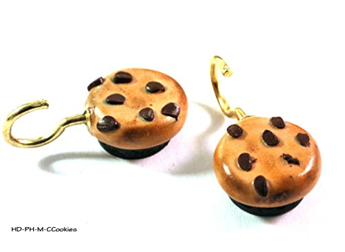 - 2 Chocolate Chip Cookie Kitchen Refrigerator Magnets with Potholder Hooks