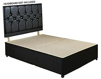 894d6a6f57ff Image Unavailable. Image not available for. Colour: Double Diamond Divan  Bed Base Unit Plain - No Headboard ...