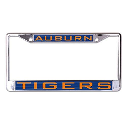 WinCraft NCAA Auburn Tigers Inlaid Metal License Plate Frame, 2-Tag Corners ()