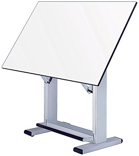 Alvin ET48-4 Elite Table, White Base White Top 36 inches x 48 inches by Alvin