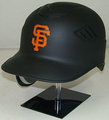 Coolflo Batters Helmet - San Francisco Giants Matte Black MLB New Coolflo Style Official Authentic Batting Helmet (for Left Handed Batter)