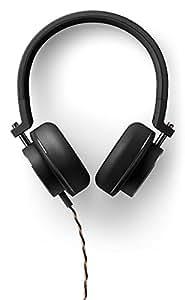 Onkyo H500MB Hi-Res - Auriculares On-Ear de Diadema con Micrófono (Controladores de 44 mm, Cable Trenzado Desmontable), Negro