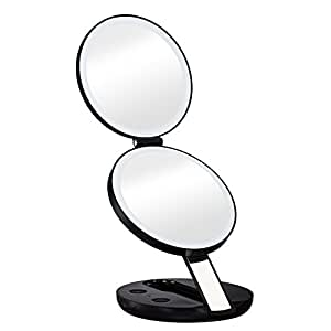 Amazon Com Gotofine Led Lighted Travel Makeup Mirror With