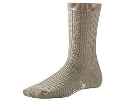 Smartwool Women\'s Cable II Socks,Oatmeal Heather,Large B(M) US