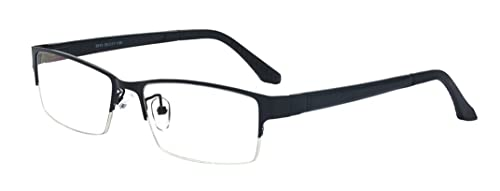 28b8378e9f Amazon.com  ALWAYSUV Retro Rectangular Half Frame Clear Lens Glasses ...