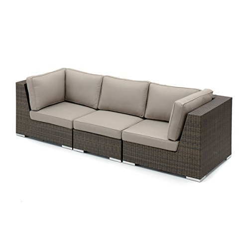 Crafted Home Fresno-PSGRP3 Decorative Modern Indoor/Outdoor Sectional, Brown