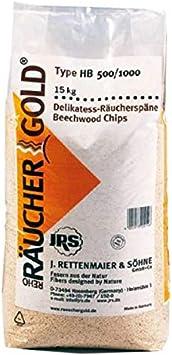Räuchergold HB 500/1000 - Serrín para ahumar (0,5/1 mm, 15 kg, madera de haya)