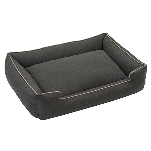 Jax and Bones Licorice Standard Wool Blend Lounge Dog Bed, Medium by Jax & Bones