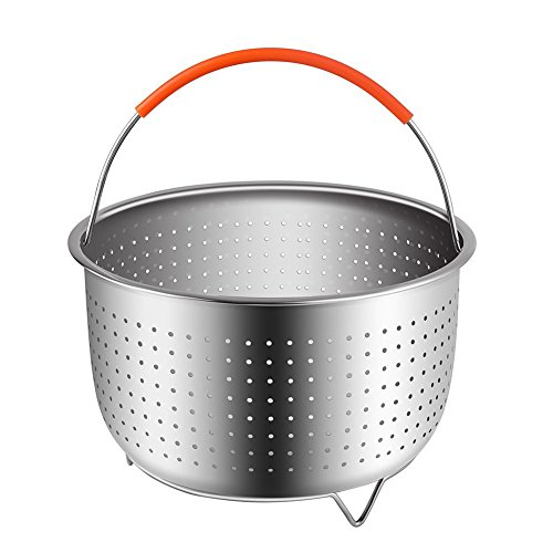 Steamer Basket for Instant Pot,Pressure Cookers Accessories,Stainless Steel Strainer and Food Steamer Basket for 6qt/8qt Pressure Cooking Pot,Steaming Vegetable Meat & Boiled Eggs Review