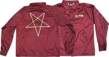 Thrasher pentagrama entrenador granate chaqueta grande ...
