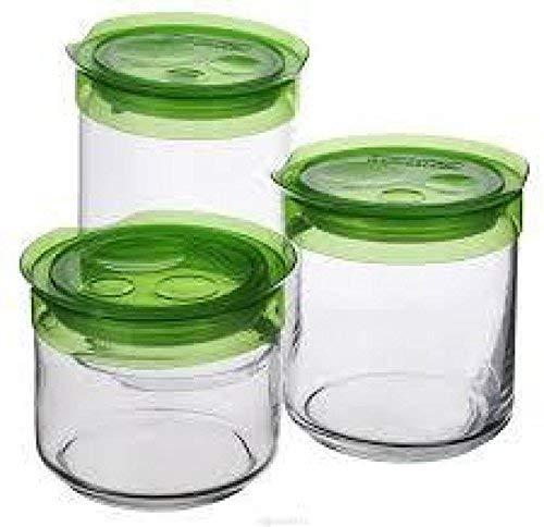 Luminarc Glass Food Storage Jar   1000 ml, 3 Pieces, Transparent
