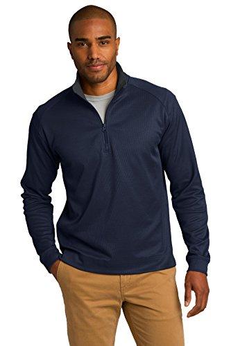 Vertical Port - Port Authority Men's Vertical Texture 1/4 Zip Pullover XL True Navy/ Iron Grey