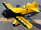 New Excellent Performance 4 CH Yellow Gee Bee Racer Radio Remote Control Electric RC Airplane RTF w/ High Crash Resistance