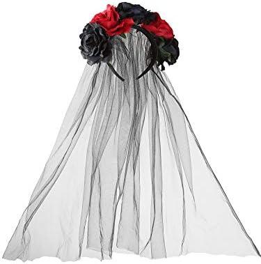 Diadema de Rosa Corona Floral Piezas de Cabeza de Velo de Flor ...