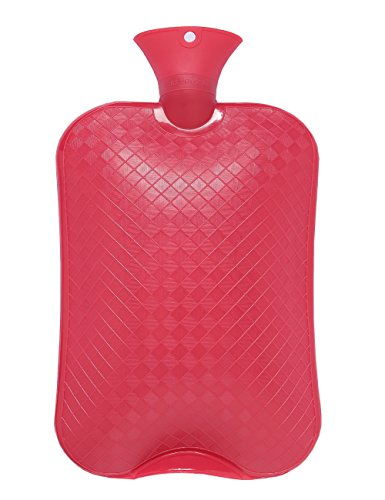 HomeIdeas X-Large Size 3 Liter Hot Water Bottle, Premium Quality, Perfect for Quick Pain Relief and Comfort (Red)