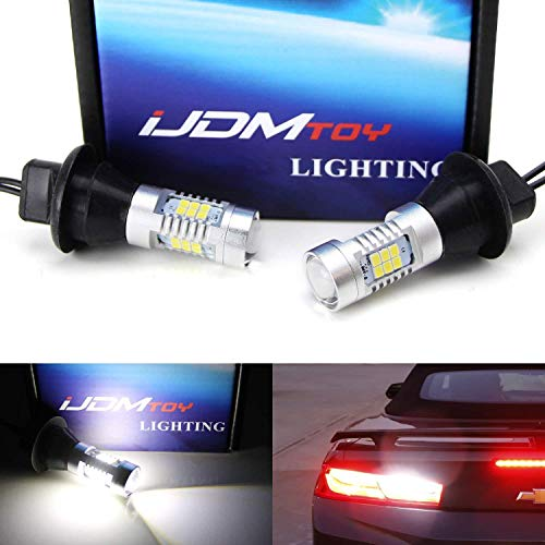 iJDMTOY (2) Special Designed CAN-bus Xenon White 21-SMD High Power LED Backup Lights For 2016-up Chevrolet Camaro (No Stay Lit When Car's Off Issue)