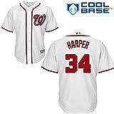 Bryce Harper Washington Nationals #34 Men's Cool Base Home Jersey White - XXL