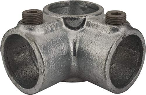 Kee - 1-1/4 Inch Pipe, Side Outlet Tee, Malleable Iron Pipe Rail Fitting