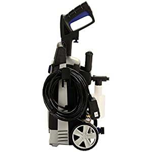 AR Blue Clean AR112S 1,500 PSI Electric Pressure Washer, Nozzles, Spray Gun, Wand, Detergent Bottle & Hose