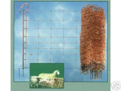 50m Schafnetz 90cm 1Spitz Schafnetze Hundezaun Gartenzaun Elektrozaun Schaf