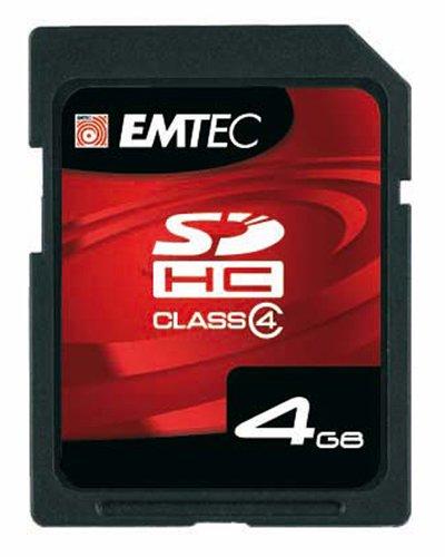 EMTEC Class 4 SDHC Flash Memory Card, 4   GB Memory Cards