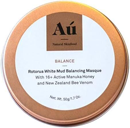 Balance White Mud Balancing Mask by Au Natural Skinfood | Rotorua Exfoliating Mask with 16+ Manuka Honey | Certified | Food For Your Skin | All Skin Types | Made in New Zealand | 1.7 oz
