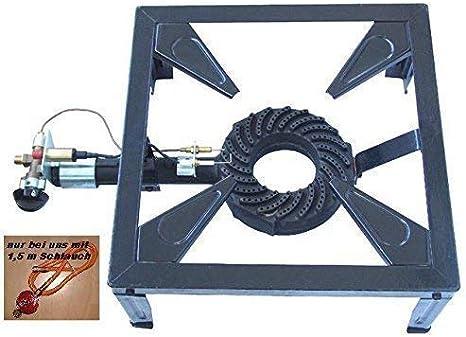 Hornillo de hierro fundido portátil profesional de 4 patas
