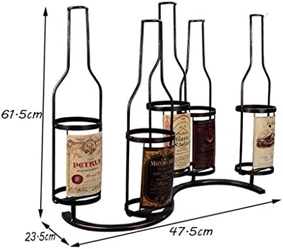 JJJJD Estante del vino en la Pared Decoración Vinoteca Titular Colgante Estante de Vino Gabinete de Vino Restaurante Enrejado del Vino
