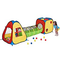 UTEX 3 in 1 Pop Up Play Tent with Tunnel, Ball Pit for...