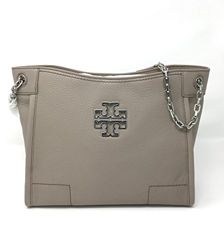 Tory Burch Britten Small Slouchy Tote In French Grey Style 390570817 by Tory Burch