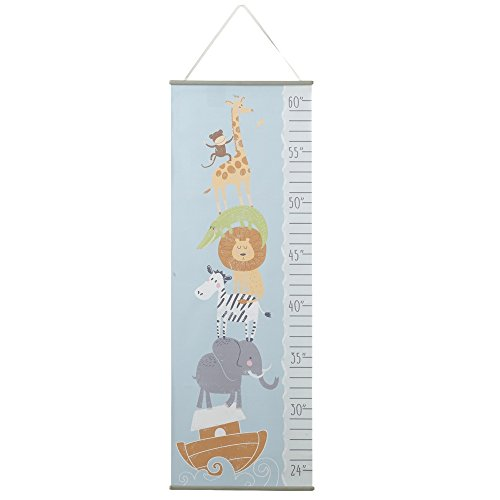 Noah's Ark Stacked Animals Printed 14 x 40 Paper Hanging Child's Growth Chart