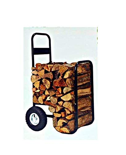 Firewood Hand Truck Caddy - With Cover - 200lb Cap -No Flat Wheels by Nantucket
