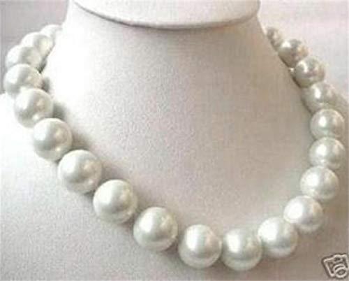 FidgetKute New 14mm AAA White sea South Shell Pearl Necklace 18 INCH ()