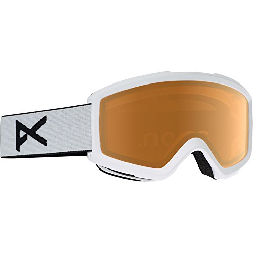 - Anon Helix 2.0 Snow Goggles White With Amber Lens