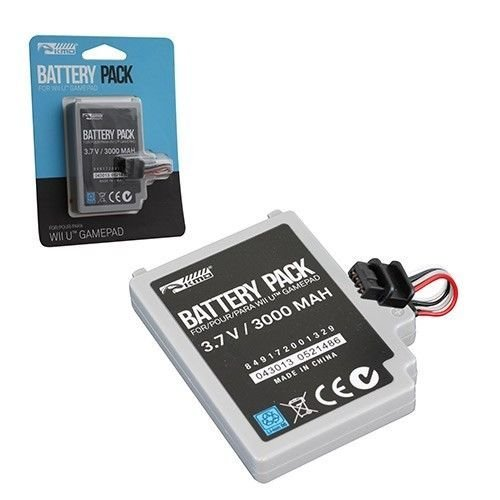 KMD 3000mAh Rechargeable Battery Pack for Nintendo Wii U Internal Controller by KMD