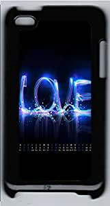 iPod 4 Cases & Covers - Blue Love PC Custom Soft Case Cover Protector for iPod 4 - Black