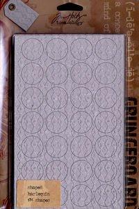 ADVANTUS CORPORATION Grungeboard Shapes 9/Package, Harlequin