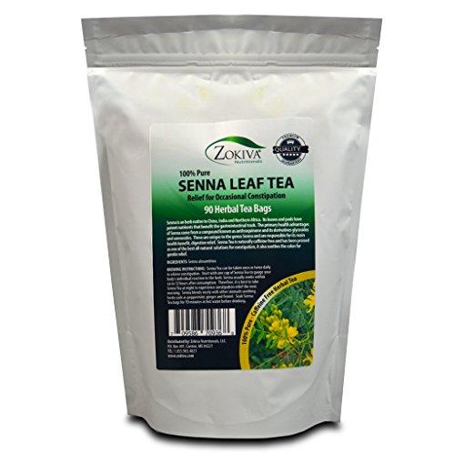 Senna Tea 90 Premium Tea Bags 100% Pure, All-Natural, Herbal -