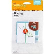 "Cuttlebug 5""X7"" Embossing Folder-Happy Birthday"