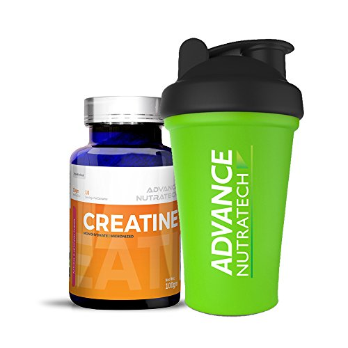 Creatine Monohydrate flavored 100 gm with Shaker by ADVANCE NUTRATECH