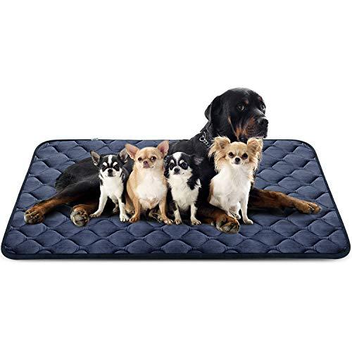 Hero Dog Large Dog Bed Mat 55 Inch Crate Pad Anti Slip Mattress Washable for Pets Sleeping (Grey XXL)