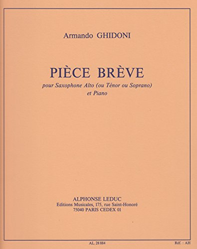 Piece Breve for Saxophone and Piano by Armando Ghidoni