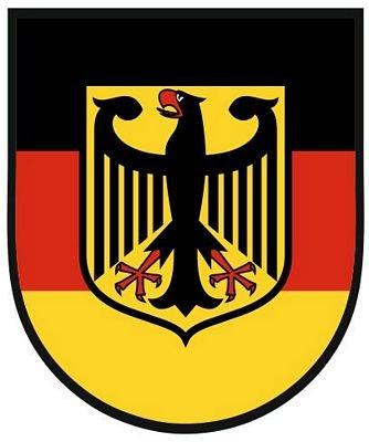 Autoaufkleber Sticker Deutschland Adler Schild Kontur Fahne Aufkleber