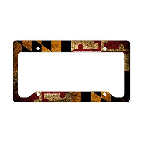 - CafePress - Vintage Flag Of Maryland - Aluminum License Plate Frame, License Tag Holder