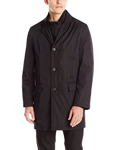 Calvin Klein Men's Raincoat with Quilted Zip-Out Liner 35 Inches (Out Zip Liner Quilted)