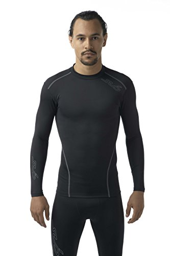 Sub Sports Mens Long Sleeve Compression Top Running Base Layer Vest Crew Neck