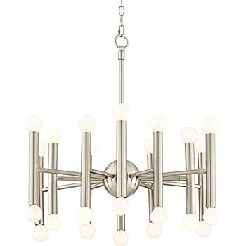 Possini euro hera 26 wide brushed nickel chandelier amazon possini euro hera 26 wide brushed nickel chandelier aloadofball Image collections